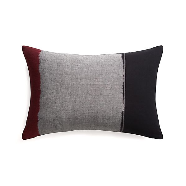 "Montez 24""x16"" Pillow with Feather-Down Insert"