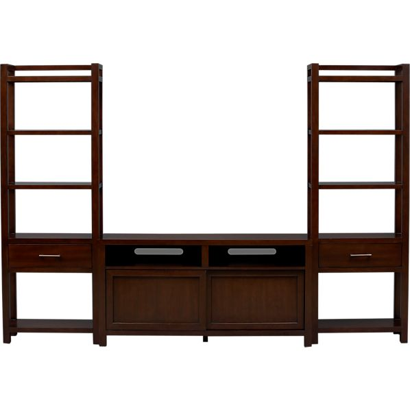 """Tyler 60"""" Media Console with Two Media Towers"""