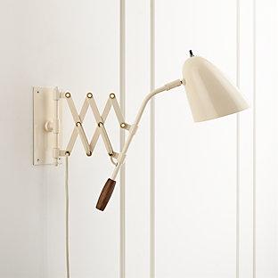 Morgan Ivory Metal Desk Lamp With Usb Port Crate And Barrel