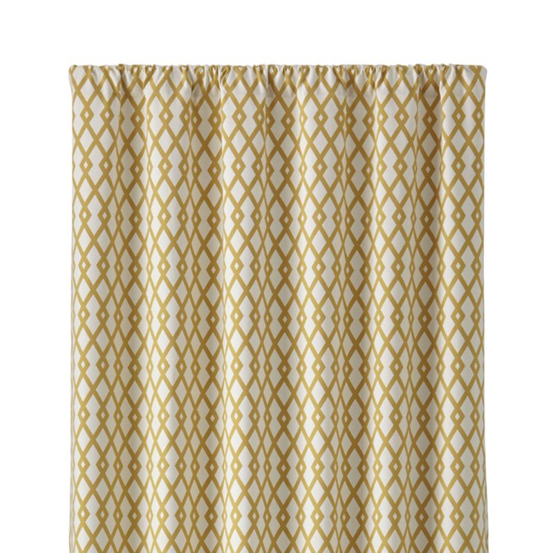 "Moritz 50""x108"" White and Gold Curtain Panel"