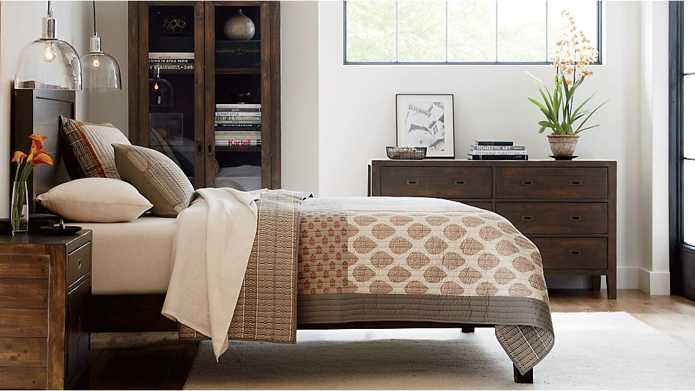 Morris Chocolate Brown Queen Bed