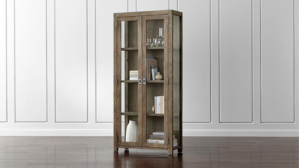 Morris Ash Grey Bookcase Crate And Barrel