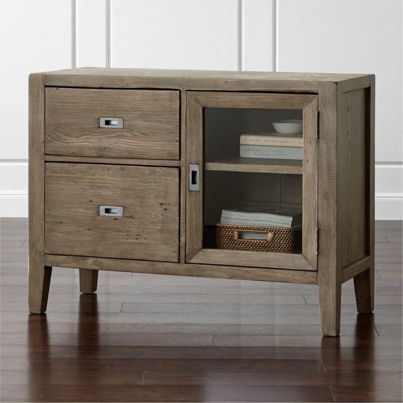 Morris Ash Grey Credenza Crate And Barrel