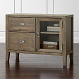 Morris Ash Grey Reclaimed Wood Office Credenza