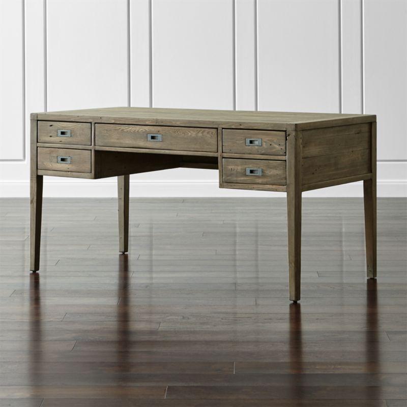 "Morris 60"" Ash Grey Desk"