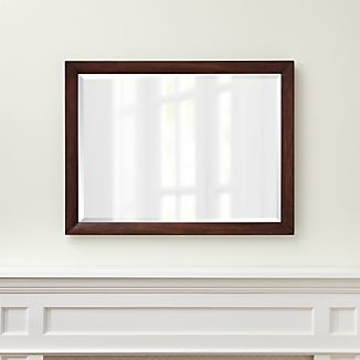 Morris Chocolate Brown Rectangular Wall Mirror