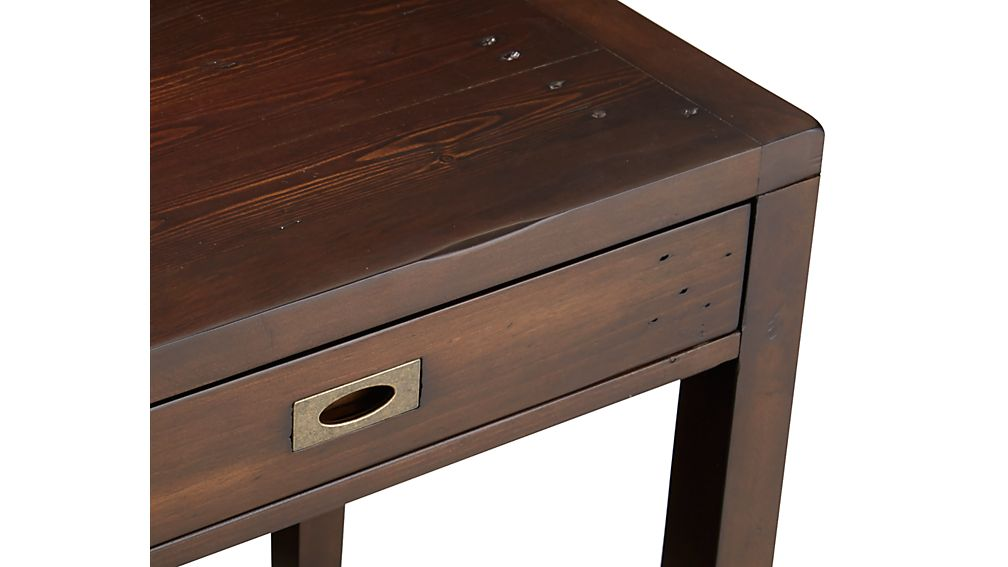 "Morris 48"" Chocolate Brown Writing Desk"