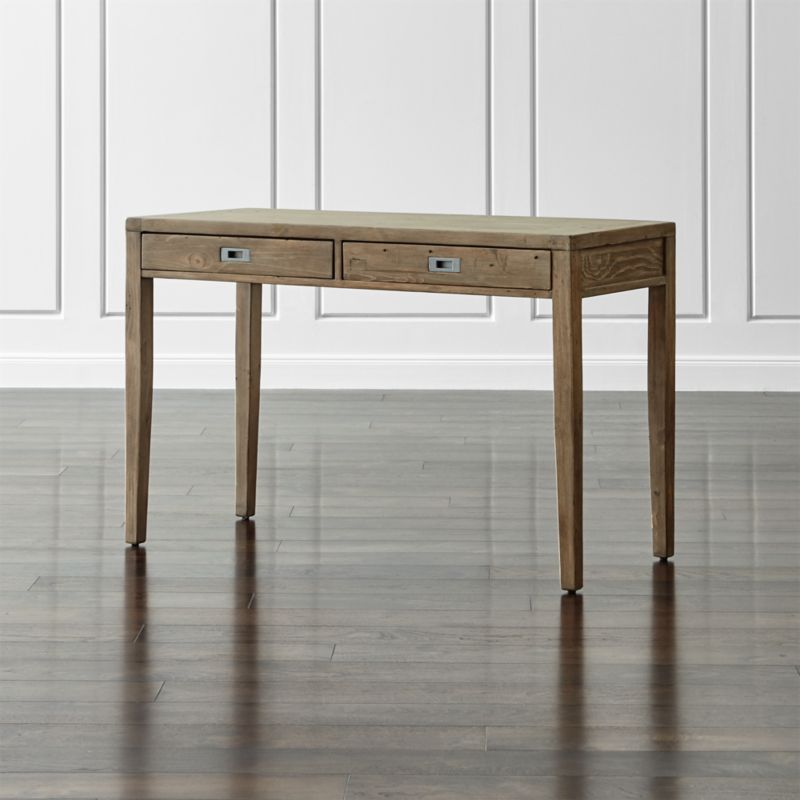 "Morris 48"" Ash Grey Writing Desk"