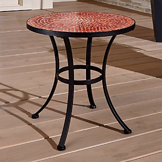 Mosaic Red Side Table