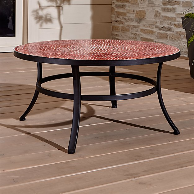 Mosaic Red Coffee Table Crate And Barrel