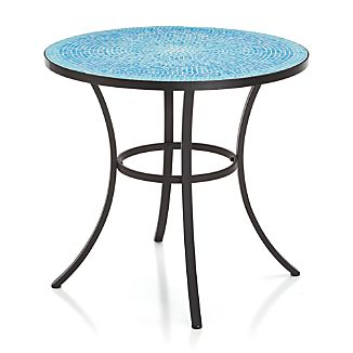 Mosaic Blue Bistro Table