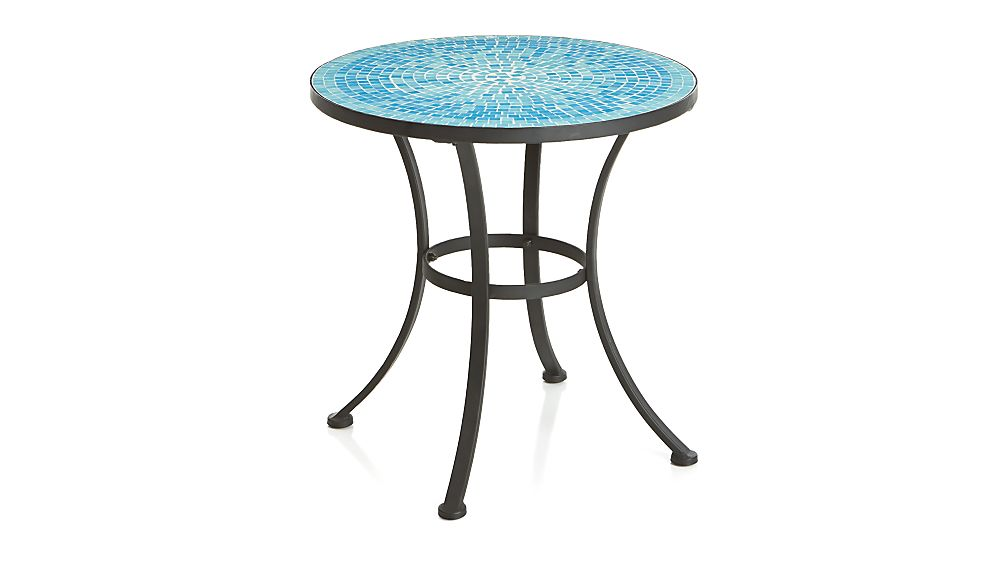 Mosaic Blue Side Table In Lounge Furniture Crate And Barrel