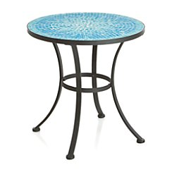 Mosaic Blue Side Table