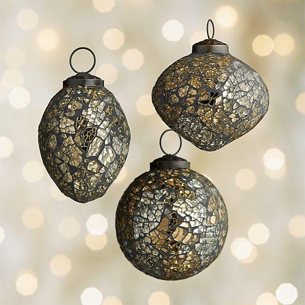 Mosaic Gold/Black Ornaments