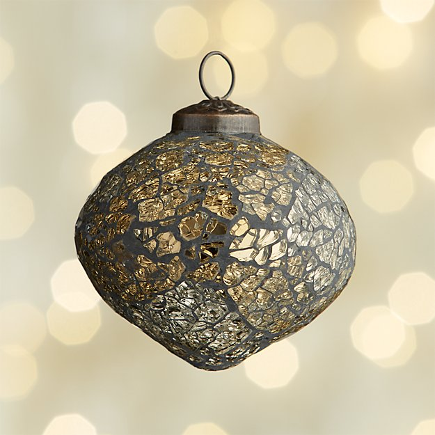 Mosaic Gold/Black Onion Ornament