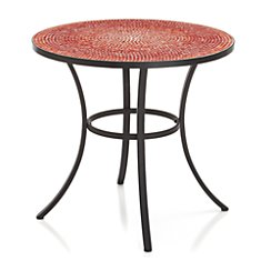 Mosaic Red Bistro Table