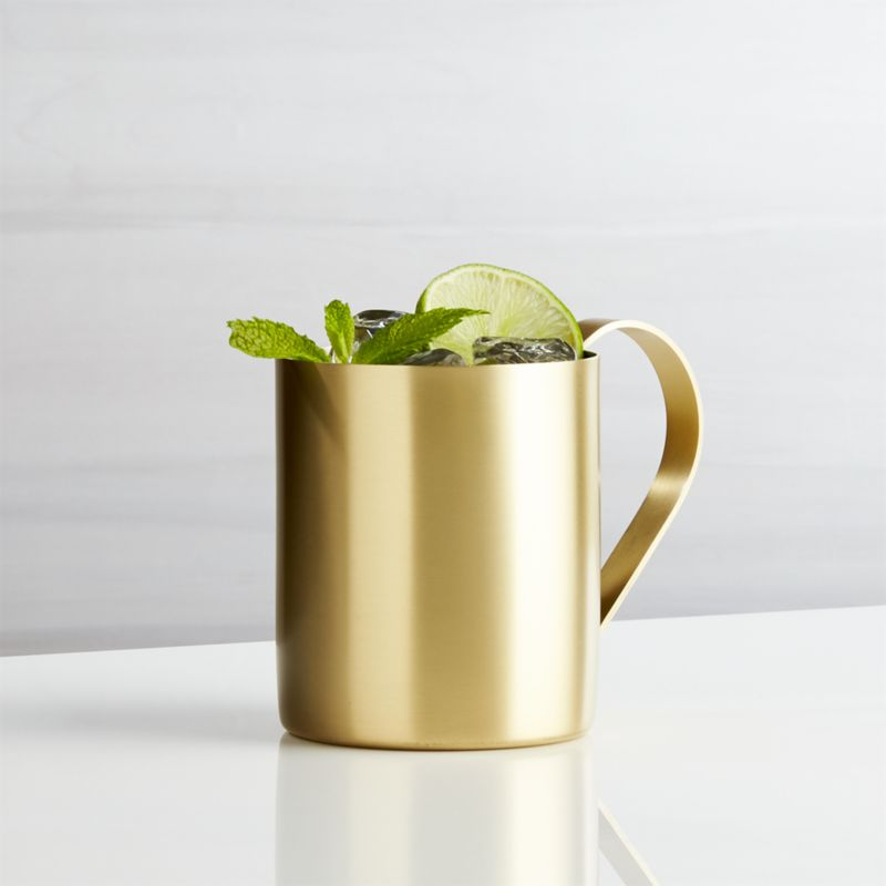 Stainless Steel Moscow Mule Mug with Gold Finish