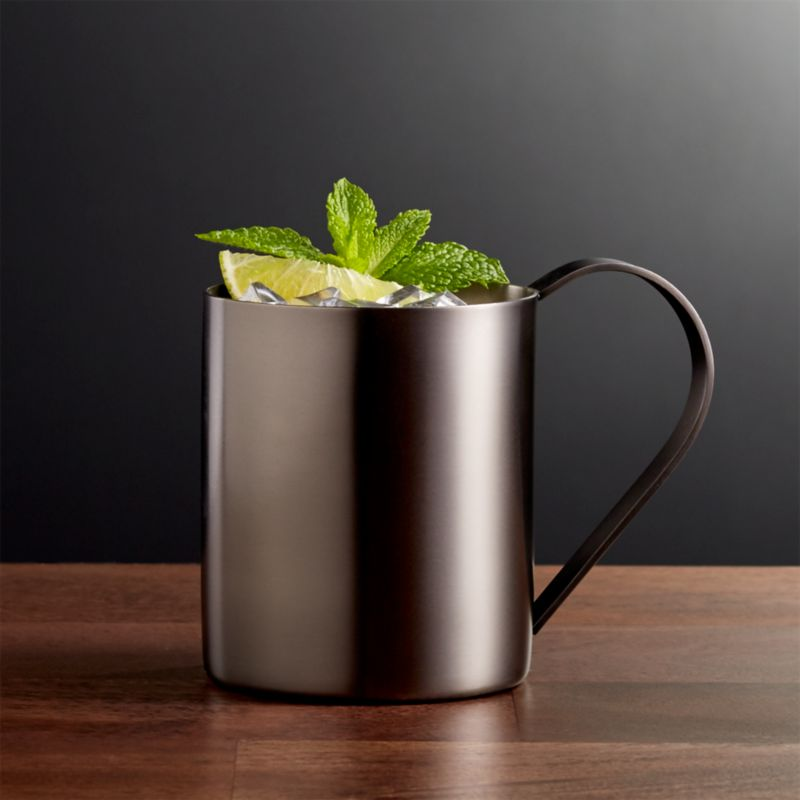 Stainless Steel Moscow Mule Mug with Graphite Finish