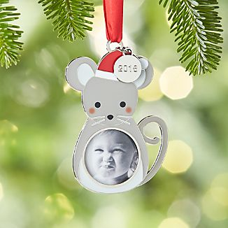 Mouse Photo Frame Ornament with 2016 Charm