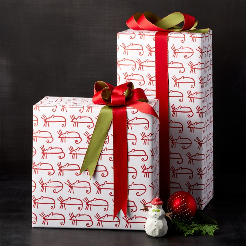 Sugar Mouse White Wrapping Paper