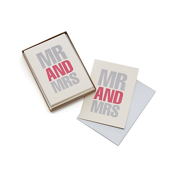 Set of 8 Mr. and Mrs. Cards