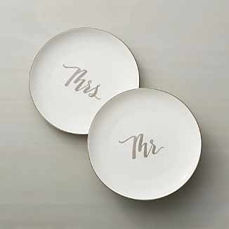 Mr. & Mrs. Salad Plates