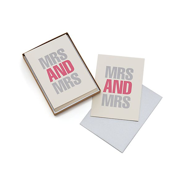 Set of 8 Mrs. and Mrs. Cards