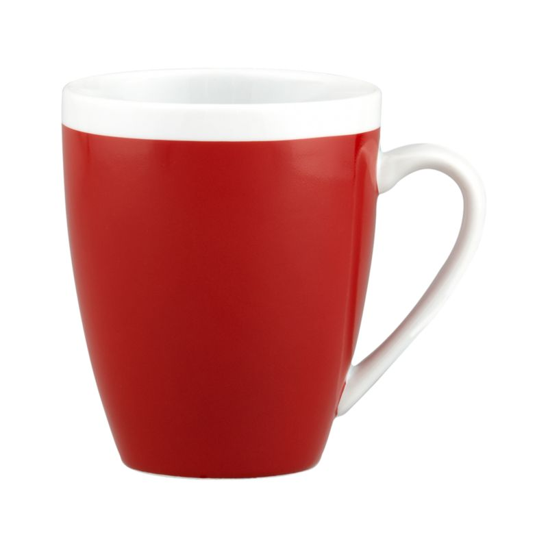 A pop of color for everyday dining. Clean, coupe shape is red with a wide band of white around the rim.<br /><br /><NEWTAG/><ul><li>Porcelain</li><li>Dishwasher-, microwave- and oven-safe to 350 degrees</li><li>Made in China</li></ul>