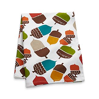 Multicolored Acorns Dish Towel
