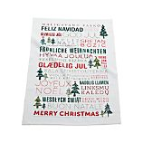 Multilingual Merry Christmas Dish Towel