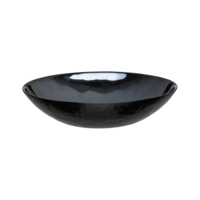 Murano Black Low Bowl