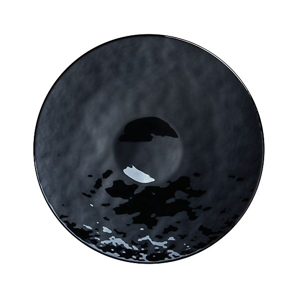 "Murano Black 16"" Platter"