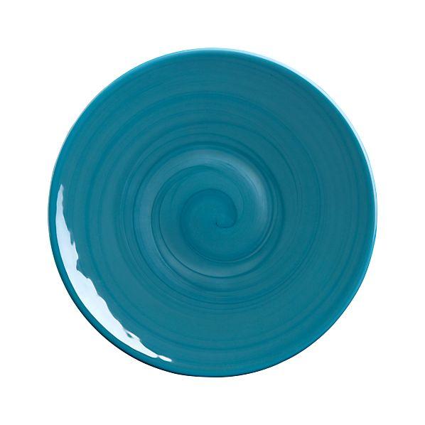 Murano Aqua Salad Plate