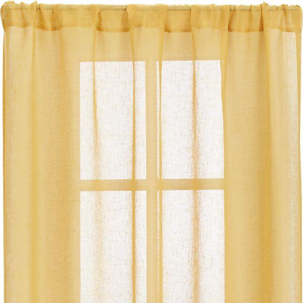 "Mustard Sheer 52""x108"" Curtain Panel"