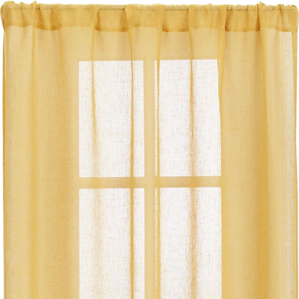 "Mustard Sheer 52""x108"" Curtain Panel"