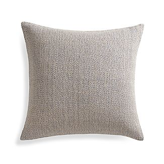 "Mylo Blue 20"" Pillow with Feather-Down Insert"