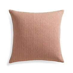 "Mylo Orange 20"" Pillow with Feather-Down Insert"