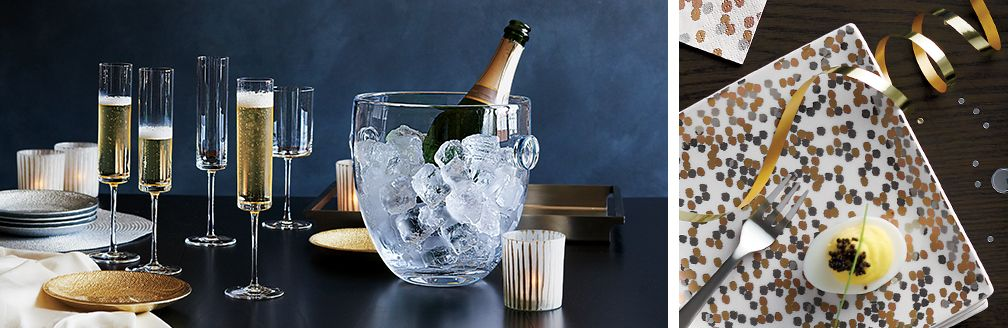 Edge Champagne Flutes