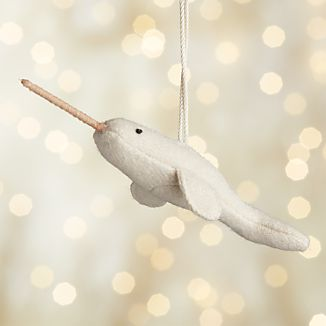 Nancy the Narwhal Felt Ornament
