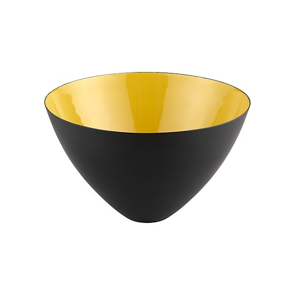 Nash High Yellow Bowl in Serving Bowls | Crate&Barrel