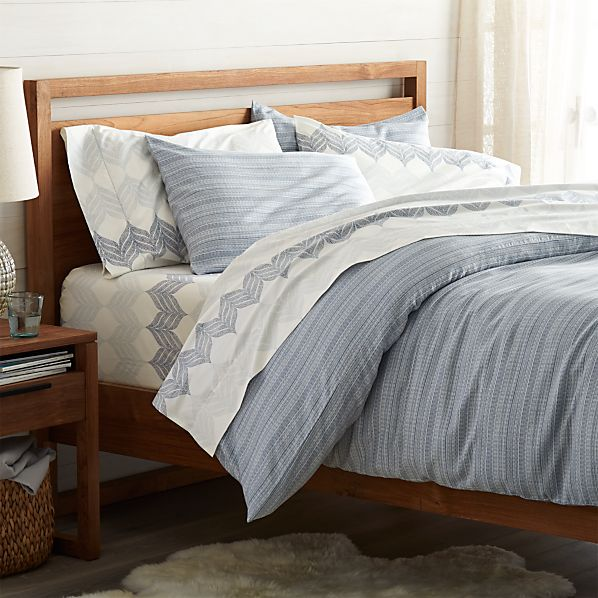 Nasoni king duvet cover in all bedding crate and barrel Crate and barrel bedroom set