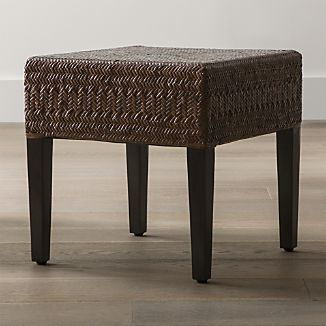 Nassau Brown Rattan Stool