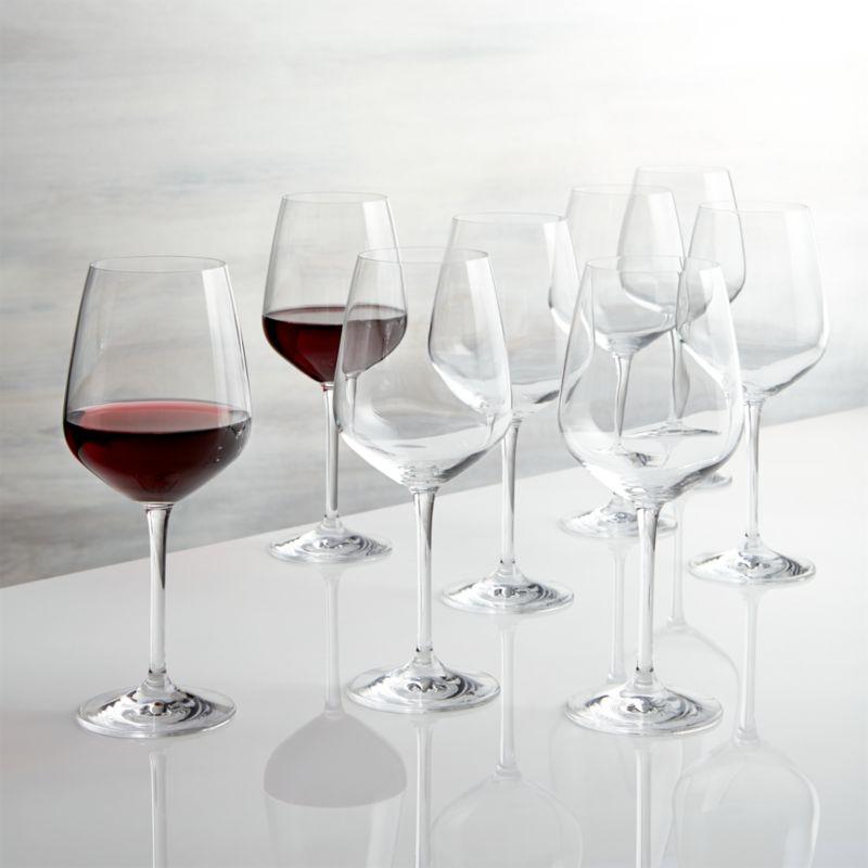 Set of 8 Nattie Red Wine Glasses