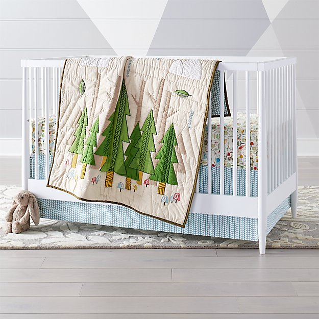Nature Trail Woodland Crib Bedding Crate And Barrel