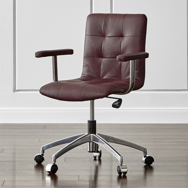 Navigator Saddle Brown Leather Office Chair Allure Saddle