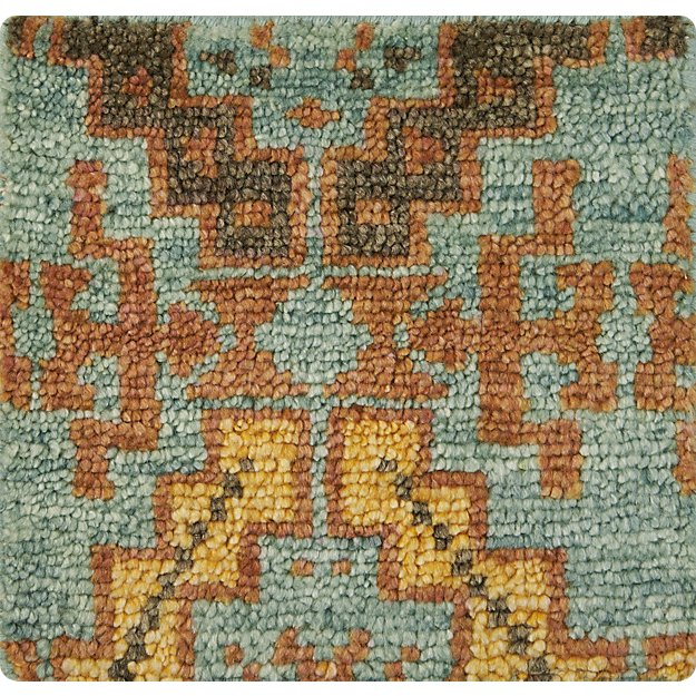 "Nell Oasis Wool-Blend 12"" sq. Rug Swatch"