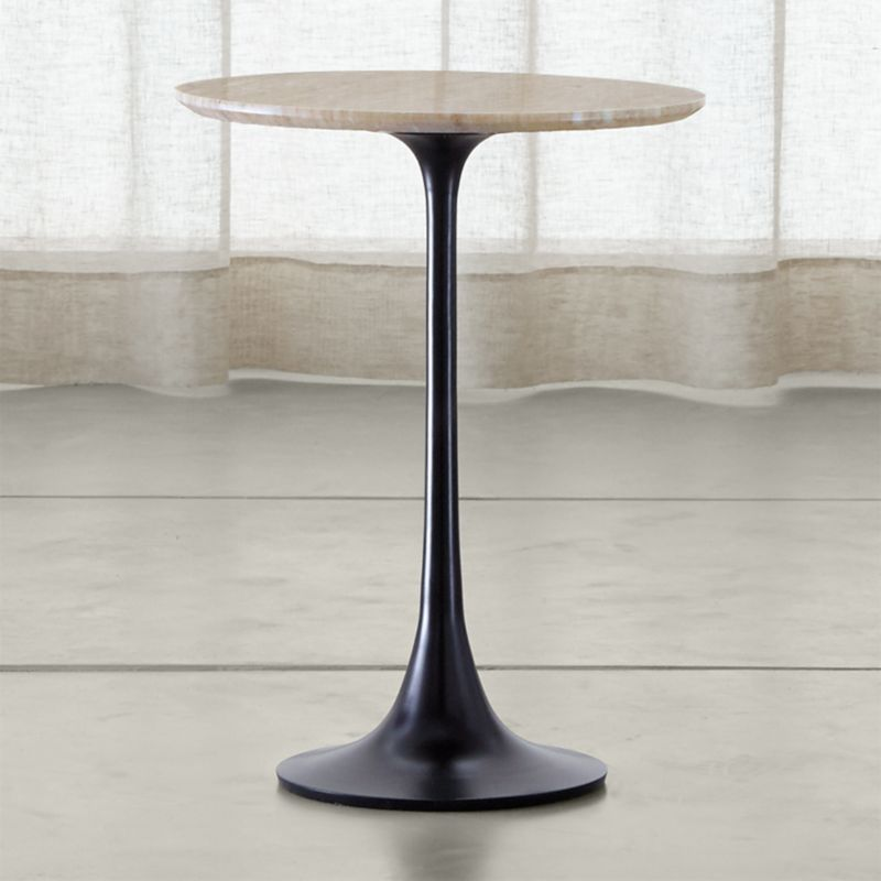 Crate And Barrel Black Marble Coffee Table: Nero Grey Marble Accent Table