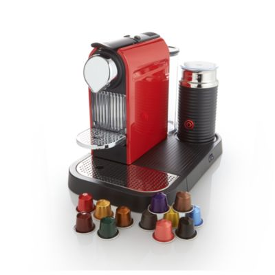 Nespresso® Citiz Red Espresso Machine with Aeroccino Frother
