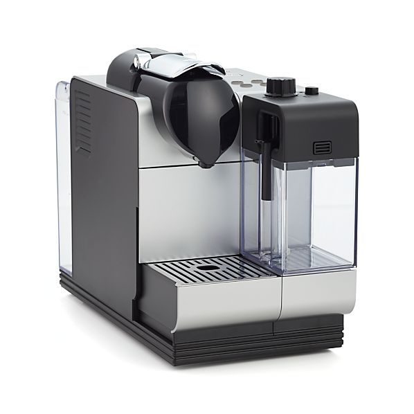 delonghi silver nespresso lattissima plus espresso maker in espresso makers crate and barrel. Black Bedroom Furniture Sets. Home Design Ideas