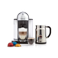 Nespresso ® VertuoLine Chrome Coffee-Espresso Maker Bundle